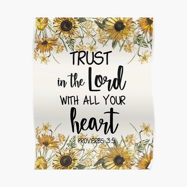Faites confiance au Seigneur de tout votre cœur Poster