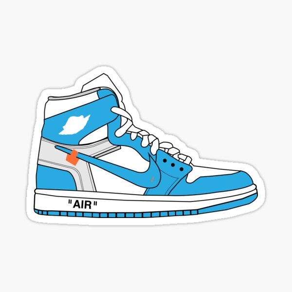 Off-White Jordan 1 UNC Sticker