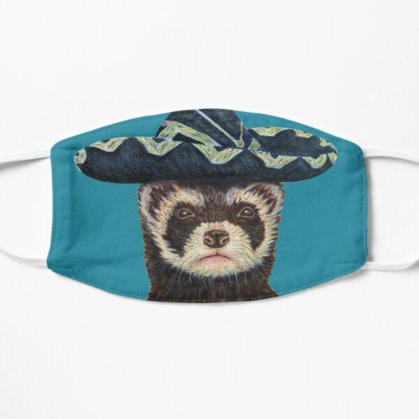 Ferret Fiesta, Blue Background Flat Mask