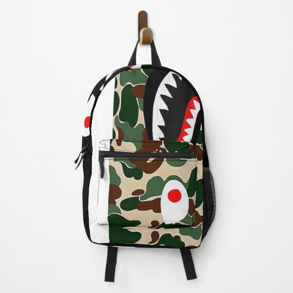 BLack Bape Camo Shark Backpack