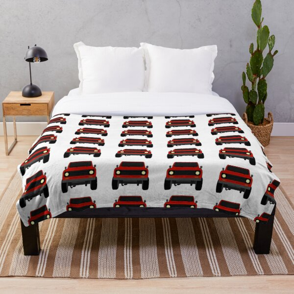 Red International Scout Black Grille Throw Blanket