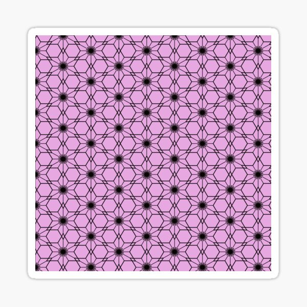 Japanese traditional pattern :: Sakurawari (Cherry blossom cut) Pink Sticker
