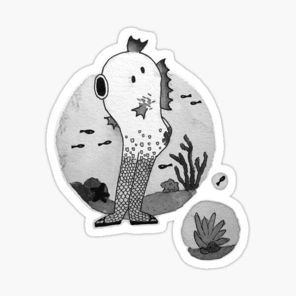 Reverse Mermaid Sticker