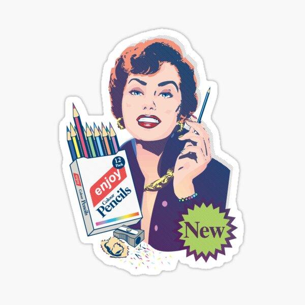 Enjoy Colour Pencils | 12 Pack Sticker
