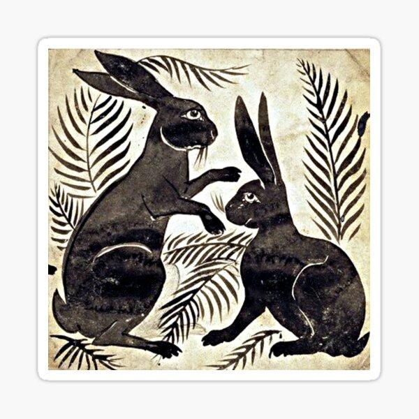 William De Morgan Hares Sticker