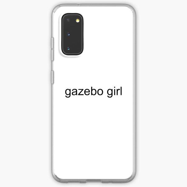 black text gazebo girl Samsung Galaxy Soft Case