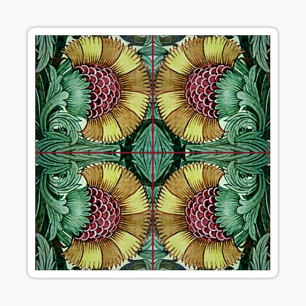 William Morris Company Designs Sticker