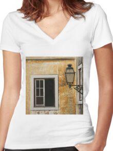 Lisboa Window Women's Fitted V-Neck T-Shirt