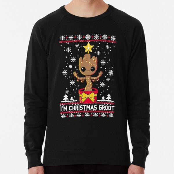 T-shirt pull de Noël groot laid Sweatshirt léger