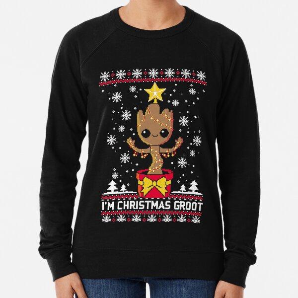 Christmas groot ugly sweater T-Shirt Lightweight Sweatshirt