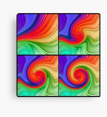 The Fourth Dimension Colourful Background Pattern Canvas Print