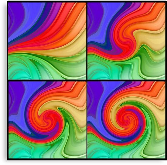 The Fourth Dimension Colourful Background Pattern by taiche