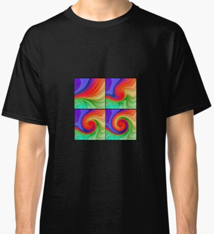 The Fourth Dimension Colourful Background Pattern Classic T-Shirt