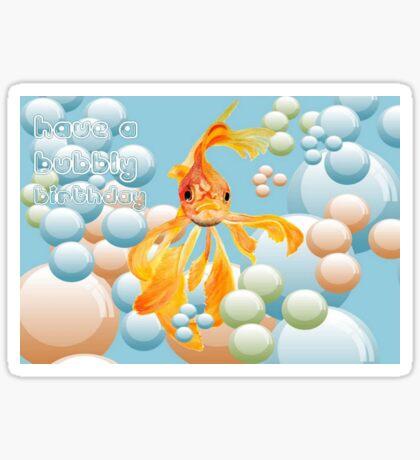 Have A Bubbly Birthday Sticker
