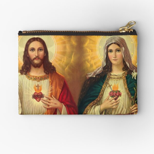 Virgin Mary And Jesus Immaculate Heart Religion Catholic Zipper Pouch