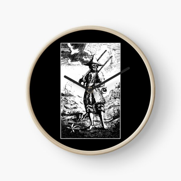 Robinson Crusoe Daniel Defoe Hermit Novel Survivalism  Clock