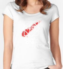Shinra Corp - Midgar Women's Fitted Scoop T-Shirt
