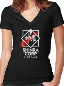Shinra Corp - Midgar Women's Fitted V-Neck T-Shirt
