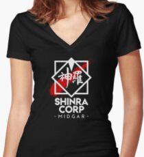 Shinra Corp - Midgar Women's Fitted V-Neck T-Shirt