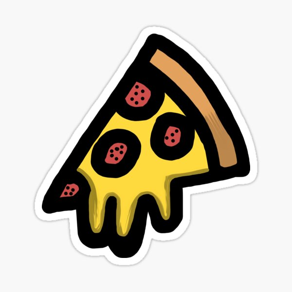 Pepperoni and Cheese Pizza Sticker