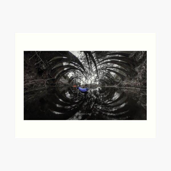 Kayaking among triffids Art Print