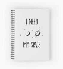 I Need My Space Pixel Case T-Shirt Diary Spiral Notebook
