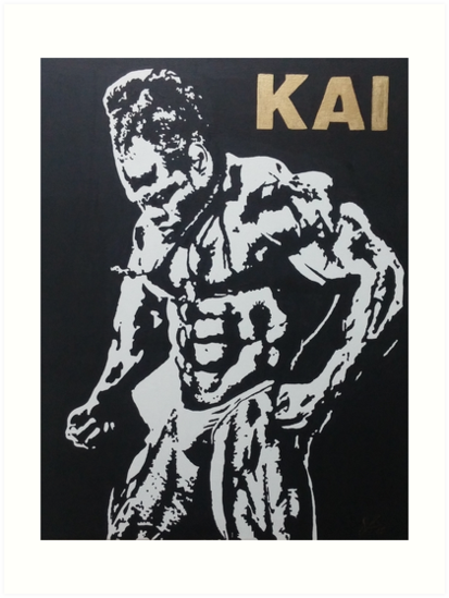 Kai greene art prints by srexprezzions redbubble for Kai greene painting