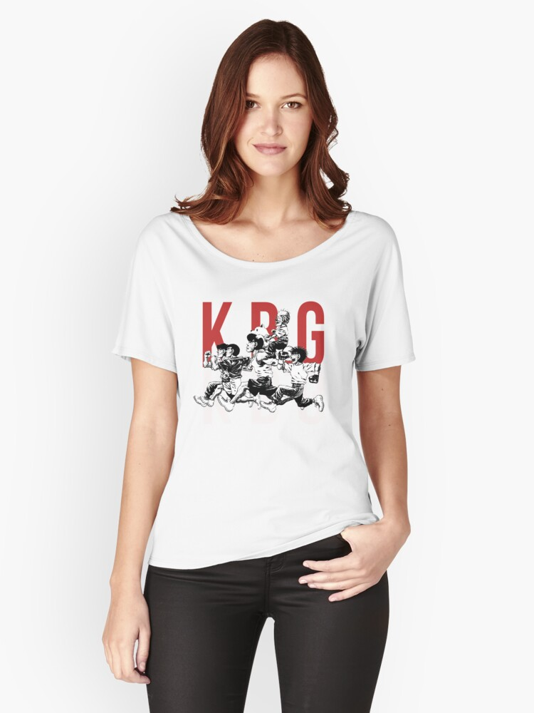 Kbg Team Hajime No Ippo Womens Relaxed Fit T Shirt By
