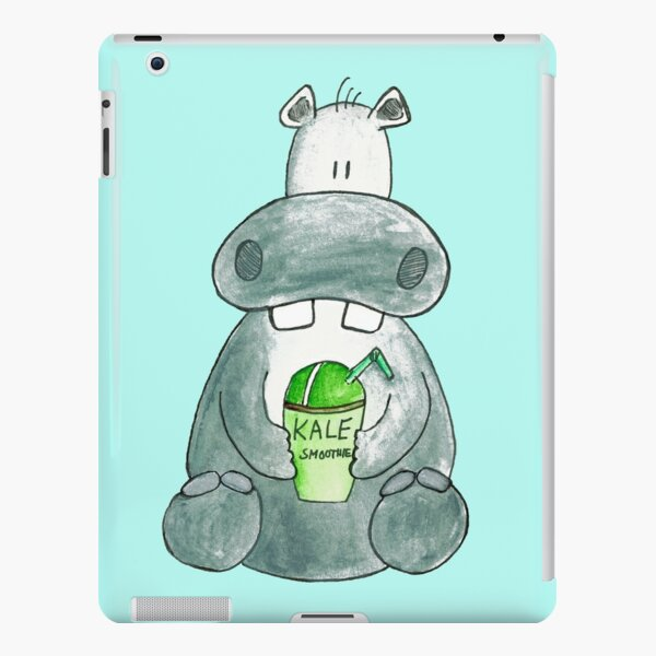Hippo Drinking Kale Smoothie iPad Snap Case
