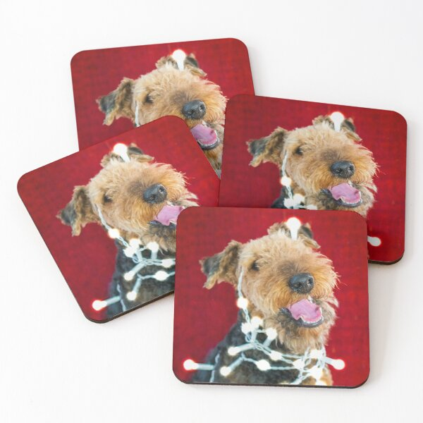 Christmas Decoration Gone Wrong - Airedale Terrier Coasters (Set of 4)