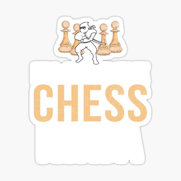 Funny Retro Vintage Chess Ninja Sticker