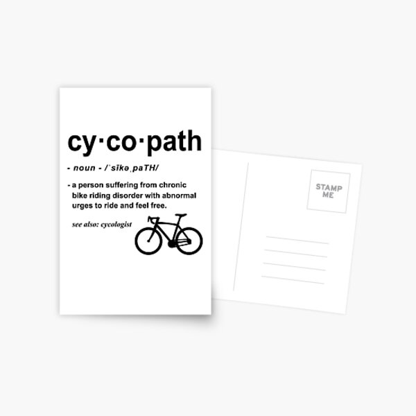 Cycopath Definition | Funny Biker Gift | Gift for Cyclist | Bicycle Lover Cycling Addict Postcard