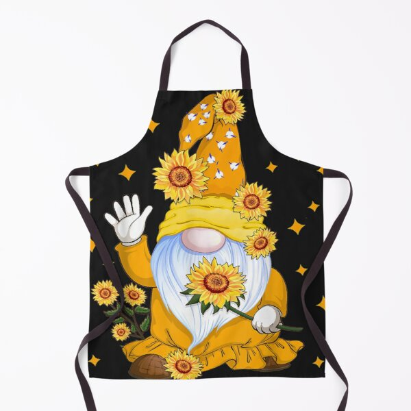 Cute Gnome with Sunflower Floral Apron
