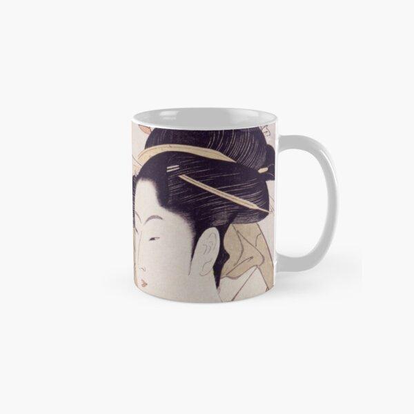 Tres bellezas de nuestros días, ukiyo-e de Kitagawa Utamaro Taza clásica