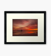 Fire in the sky by Jean Lelliott Framed Print