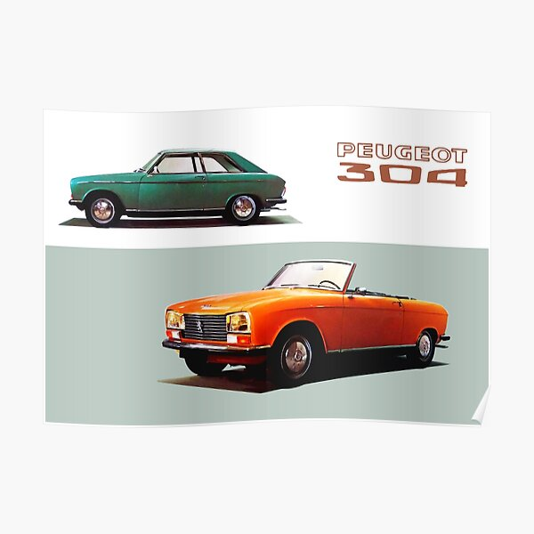 PEUGEOT 304 COUPE / CABRIOLET Poster