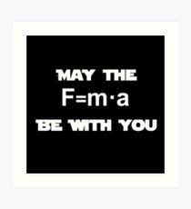 Star Wars Physics Force Black Art Print