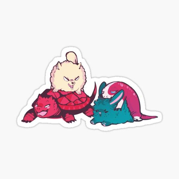 A cuter piggyback race Sticker
