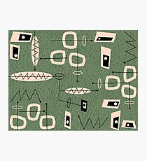 Mid-Century Modern Green Abstract Photographic Print