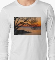 Colorful Quiet Sunrise on the Lake  Long Sleeve T-Shirt