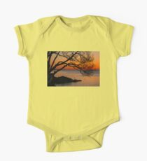 Colorful Quiet Sunrise on the Lake  One Piece - Short Sleeve