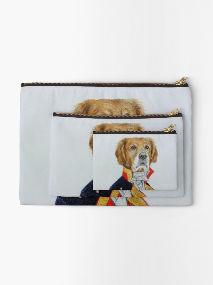 Alternate view of dog king Zipper Pouch