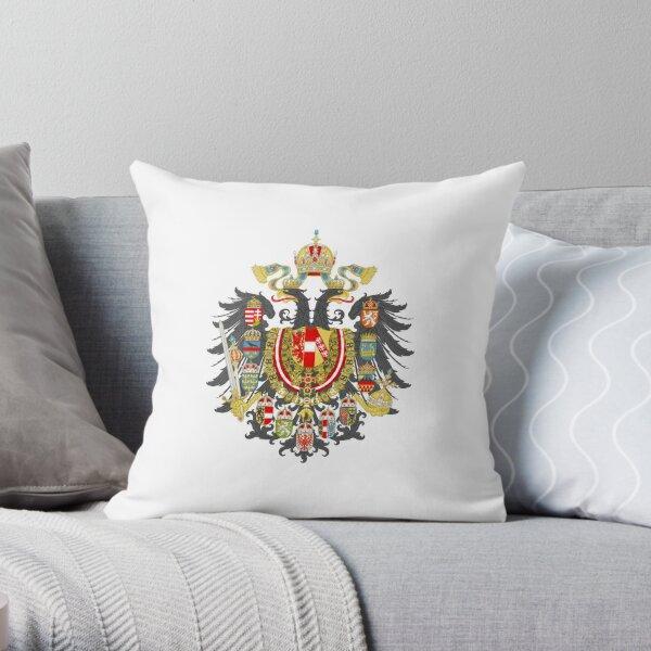 Austria-Hungary coat of arms Throw Pillow