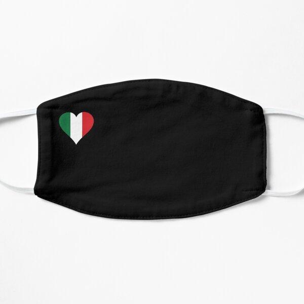 Masque drapeau Italie coeur noir Masque sans plis