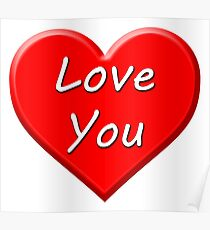 Love You (Heart) Poster