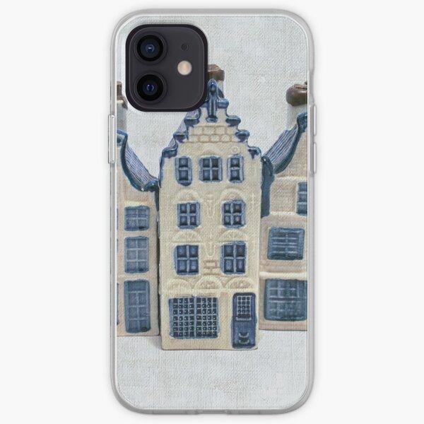 Dutch delft blue house iPhone Soft Case