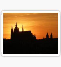Sunset in Prag Sticker