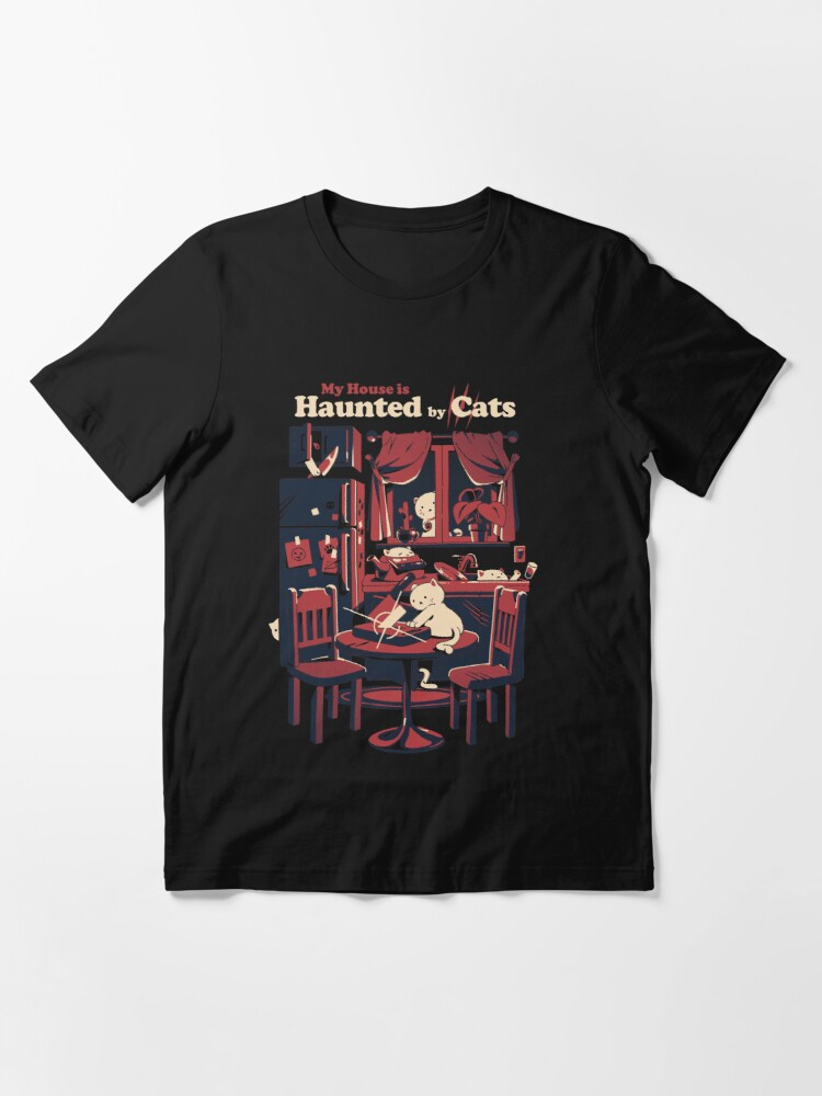 Alternate view of Haunted by cats Essential T-Shirt