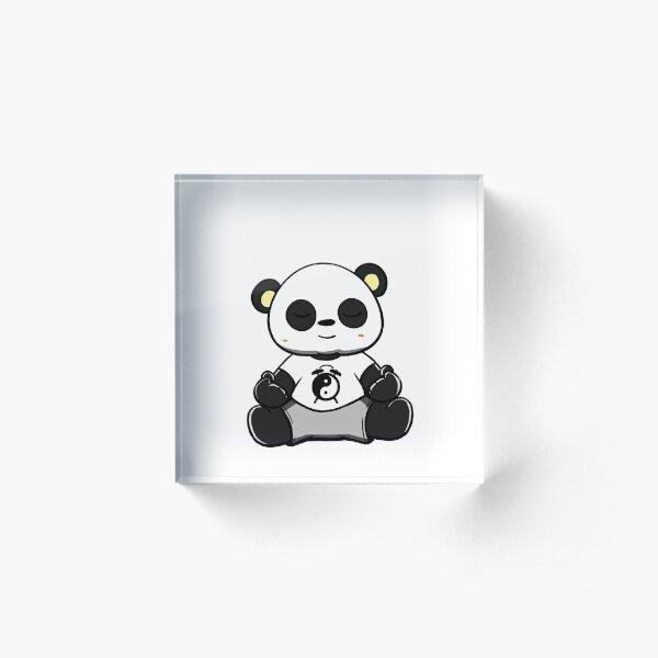 Divertido Oso Panda comer Bambú amante de los animales zoólogo Gemelos Regalo De Cumpleaños
