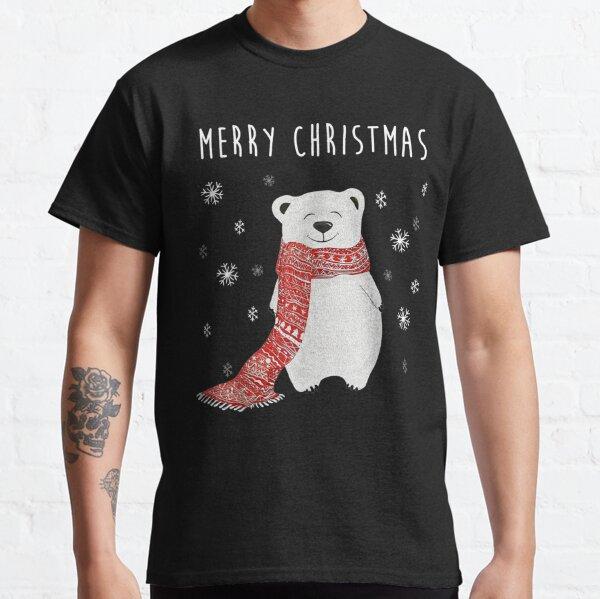 Netter Eisbär Schal Frohe Weihnachten Weihnachtsferien Classic T-Shirt